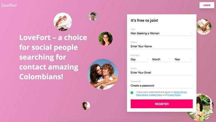 LoveFort.com main page