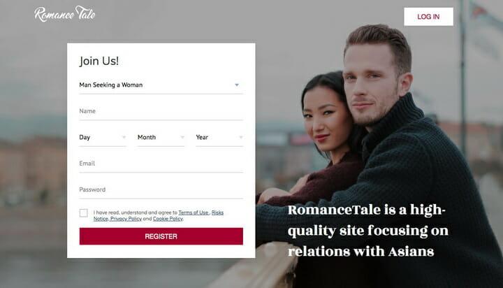 RomanceTale.com main page
