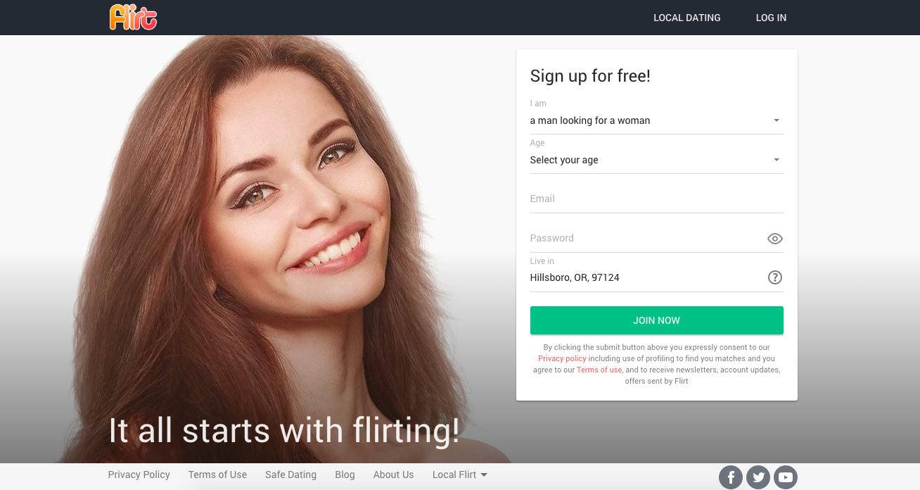 main page Flirt.com