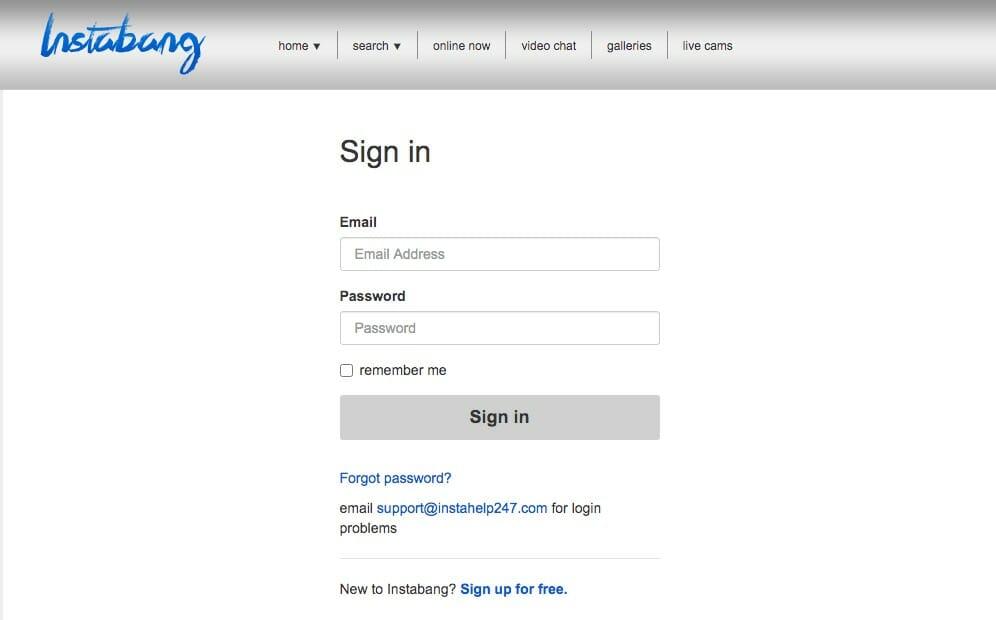 Instabang registration