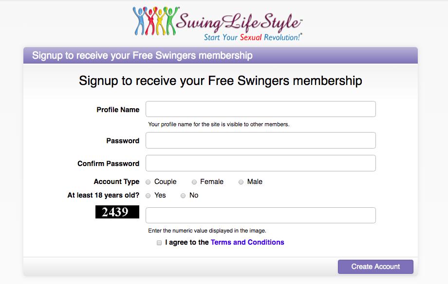crear cuenta SwingLifestyle
