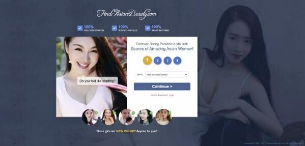findasianbeauty main page
