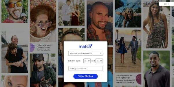 match main page